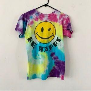 Vintage Joe Boxer 'Be Happy' Tie Dyed T-Shirt